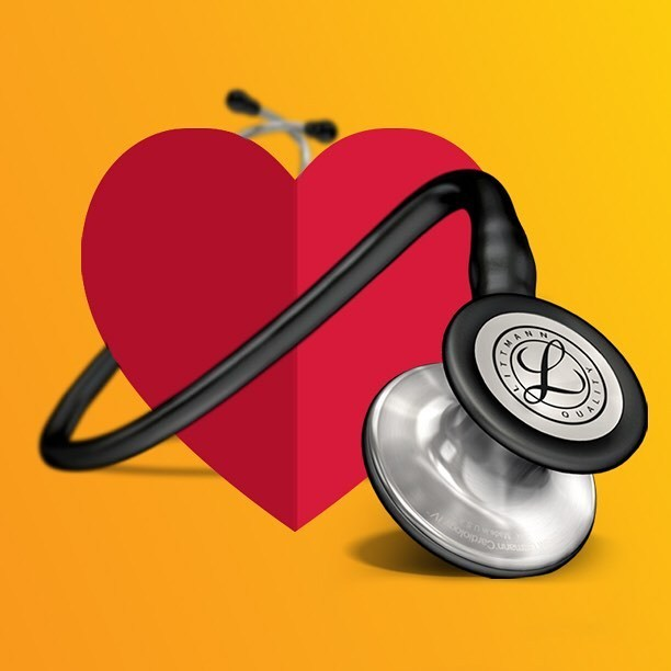 3M™ Littmann® Cardiology IV™ Stethoscope, Standard-Finish Chestpiece, Black Tube, 27 inch, 6152